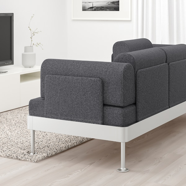 DELAKTIG 3-seat sofa, Gunnared medium grey