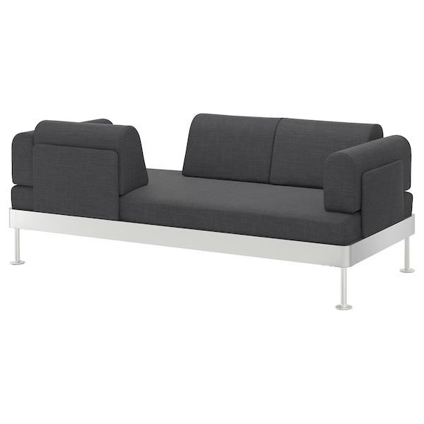 DELAKTIG 3-seat sofa, Hillared anthracite