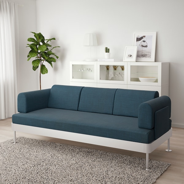 DELAKTIG 3-seat sofa, Hillared dark blue