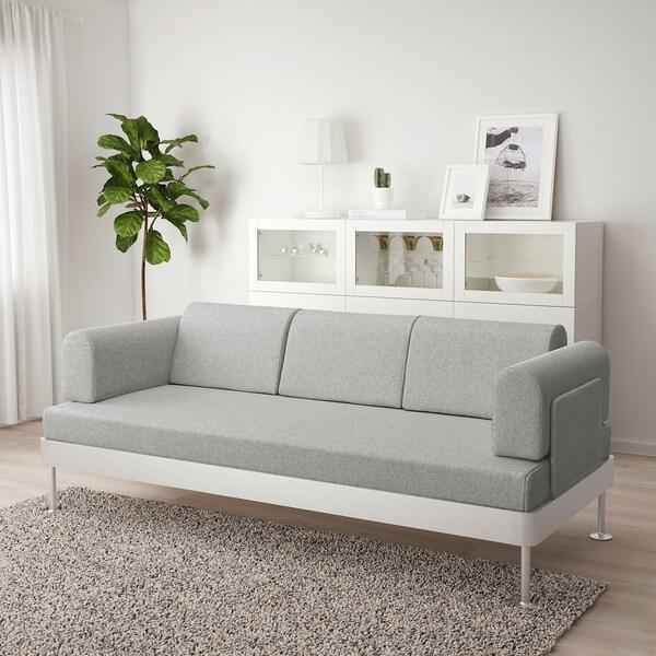 DELAKTIG 3-seat sofa, Tallmyra white/black