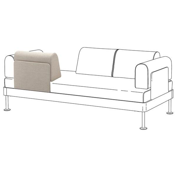 DELAKTIG Backrest with cushion, Gunnared beige