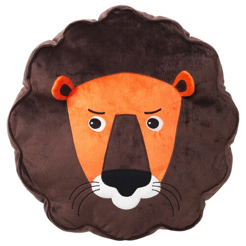 DJUNGELSKOG cushion lion/brown 39 cm