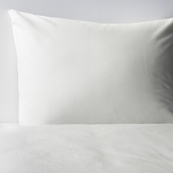 DVALA غطاء لحاف/مخدة, أبيض, 150x200/50x80 سم