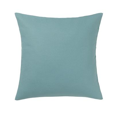 EBBATILDA غطاء وسادة, رمادي- تركواز, 50x50 سم