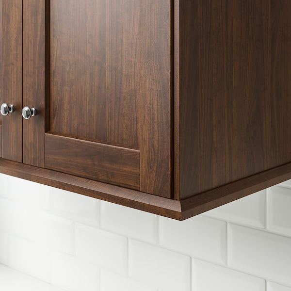 EDSERUM Contoured deco strip/moulding, wood effect brown, 221 cm