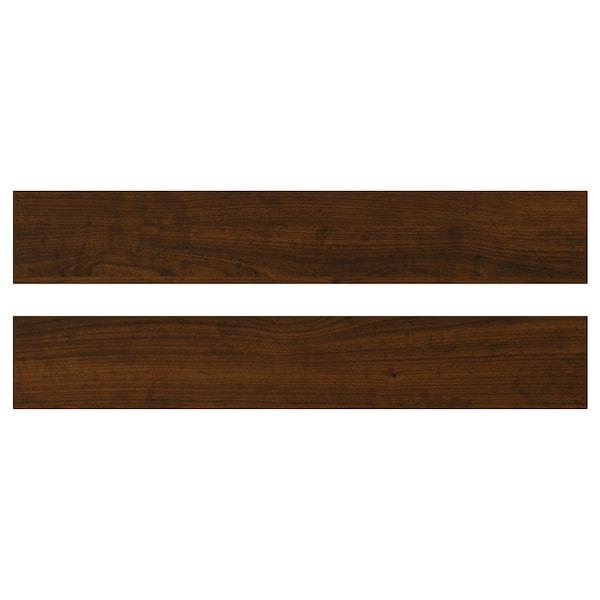 EDSERUM Drawer front, wood effect brown, 60x10 cm