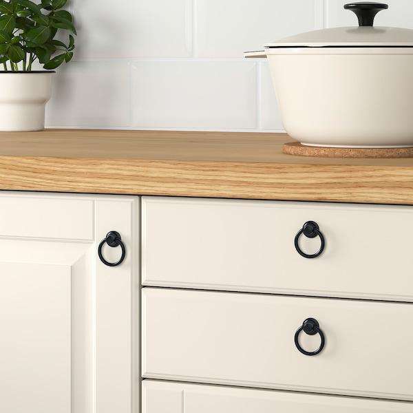EDVALLA Drop handle, black, 18 mm