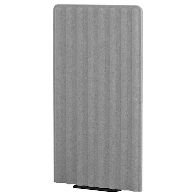 EILIF Screen, freestanding, grey/black, 80x150 cm