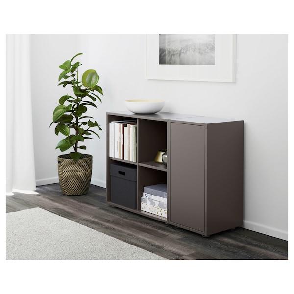 EKET Cabinet combination with feet, dark grey, 105x35x72 cm