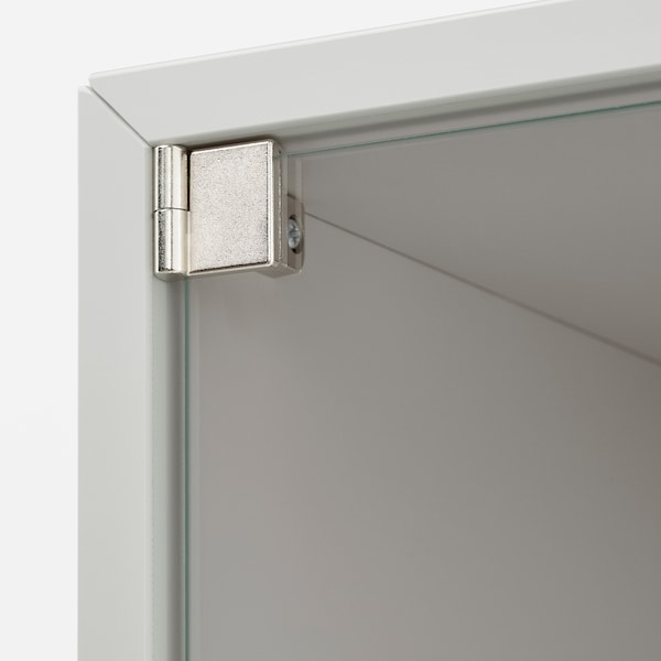EKET Wall cabinet with glass door, light grey, 35x35x35 cm