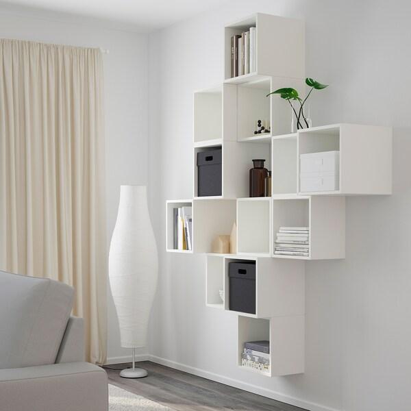 EKET تشكيلة خزانة حائطية, أبيض, 175x35x210 سم