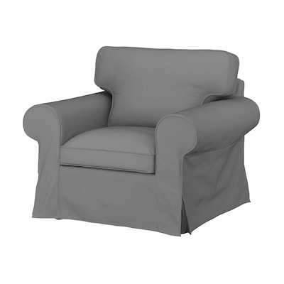 EKTORP Armchair, Remmarn light grey