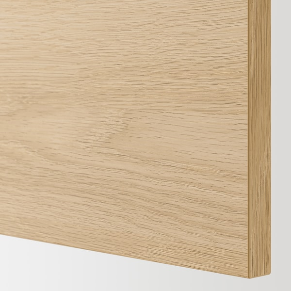 ENHET Bc f sink/door, white/oak effect, 60x60x75 cm
