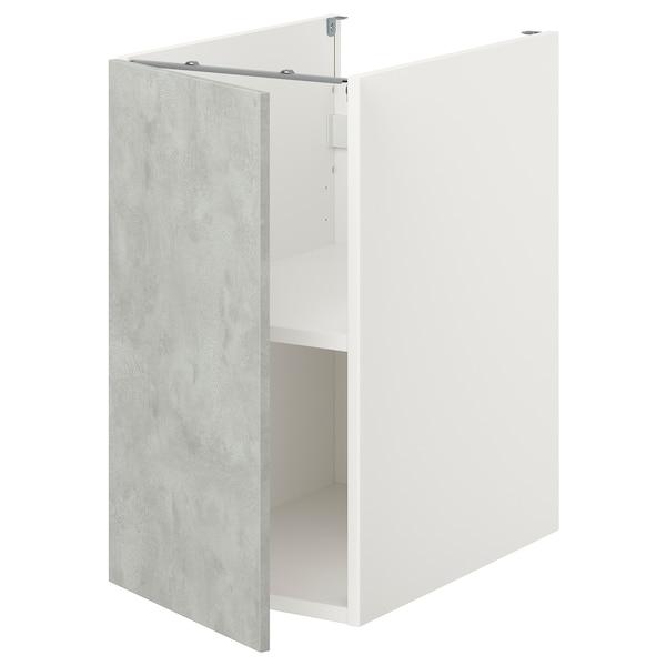 ENHET Bc w shlf/door, white/concrete effect, 40x60x75 cm