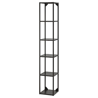 ENHET High fr w shelves, anthracite, 30x30x180 cm