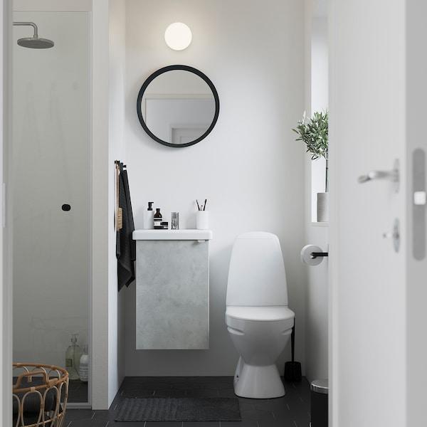 ENHET / TVÄLLEN خزانة الحوض مع 1 باب, تأثيرات ماديّة./أبيض حنفية Pilkån, 44x43x65 سم