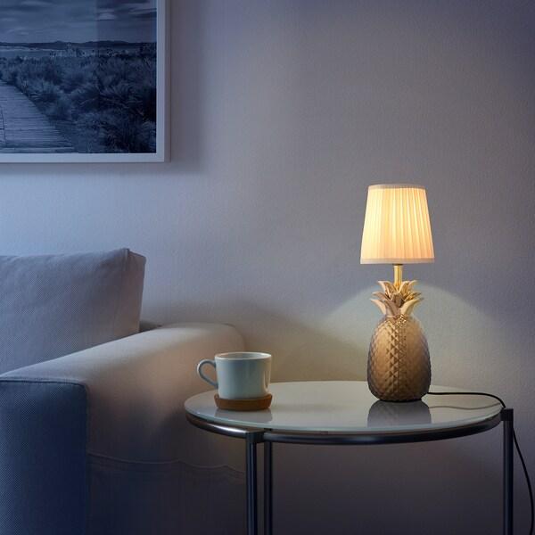 FIDDEKULLA Table lamp base, pineapple/brass-colour, 30 cm