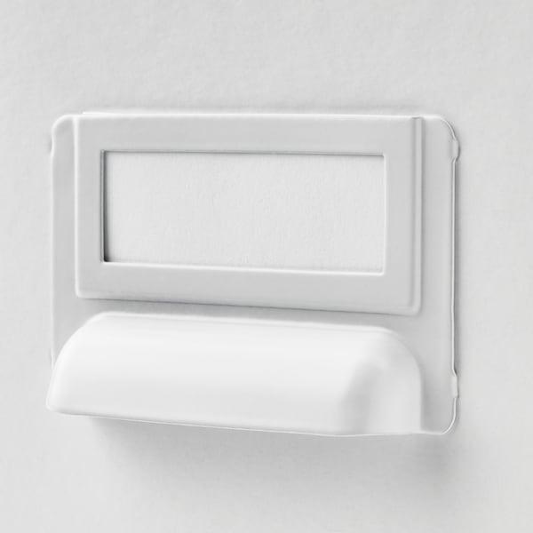 FJÄLLA Storage box with lid, white, 25x36x20 cm