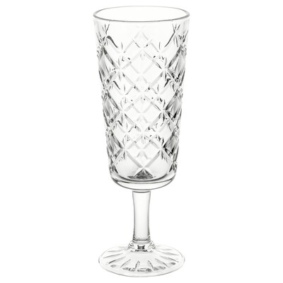 FLIMRA Glass, clear glass/patterned, 19 cl