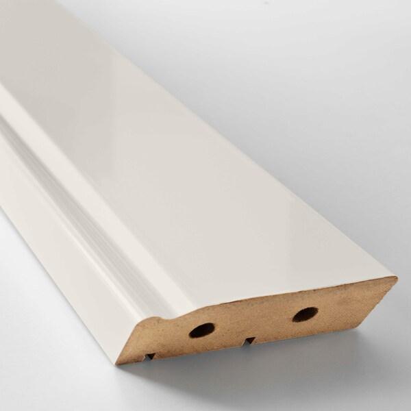 FÖRBÄTTRA Decorative plinth, off-white, 221x8 cm