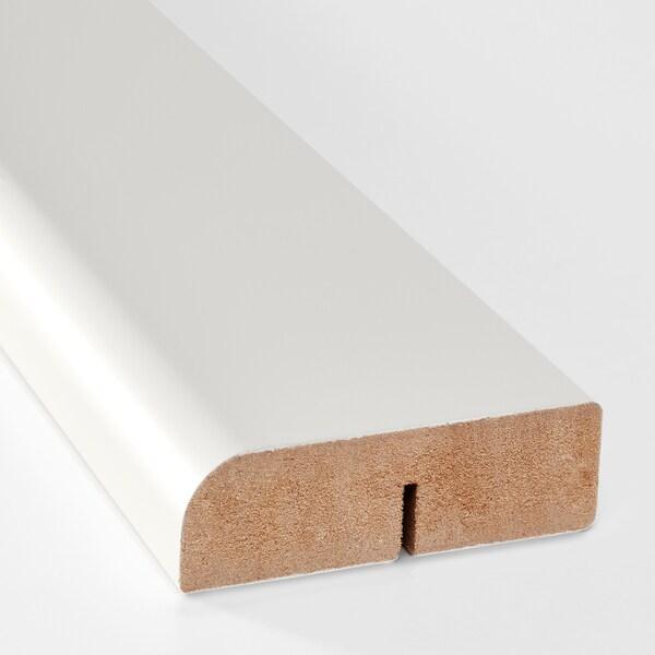 FÖRBÄTTRA Rounded deco strip/moulding, white, 221 cm
