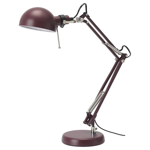 FORSÅ Work lamp, dark red