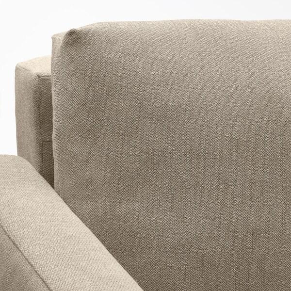 FRIHETEN 3-seat sofa-bed Hyllie beige 225 cm 105 cm 83 cm 61 cm 46 cm 144 cm 199 cm