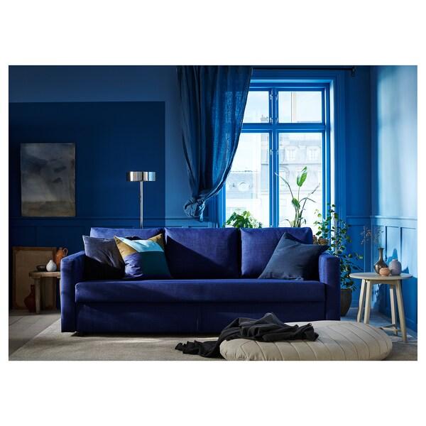 FRIHETEN 3-seat sofa-bed Skiftebo blue 225 cm 105 cm 83 cm 61 cm 46 cm 144 cm 199 cm