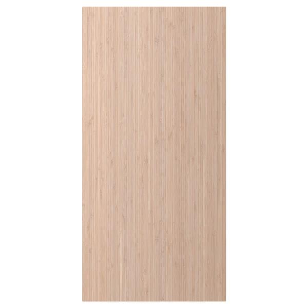 FRÖJERED Cover panel, light bamboo, 39x80 cm
