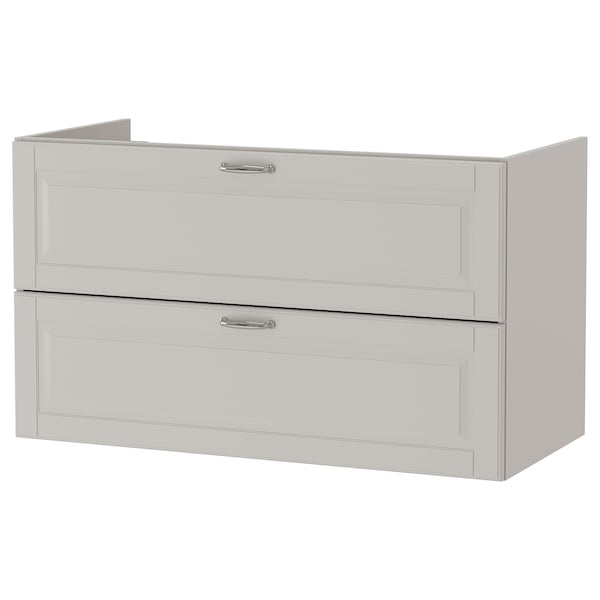 GODMORGON Wash-stand with 2 drawers, Kasjön light grey, 100x47x58 cm