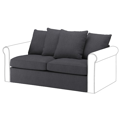GRÖNLID 2-seat sofa-bed section Sporda dark grey 104 cm 68 cm 160 cm 98 cm 60 cm 49 cm 140 cm 200 cm