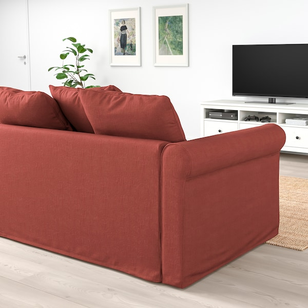 GRÖNLID 2-seat sofa, Ljungen light red