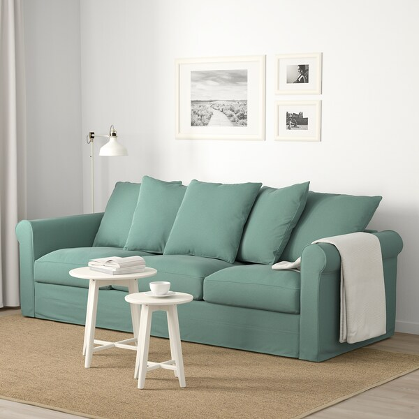 GRÖNLID 3-seat sofa, Ljungen light green