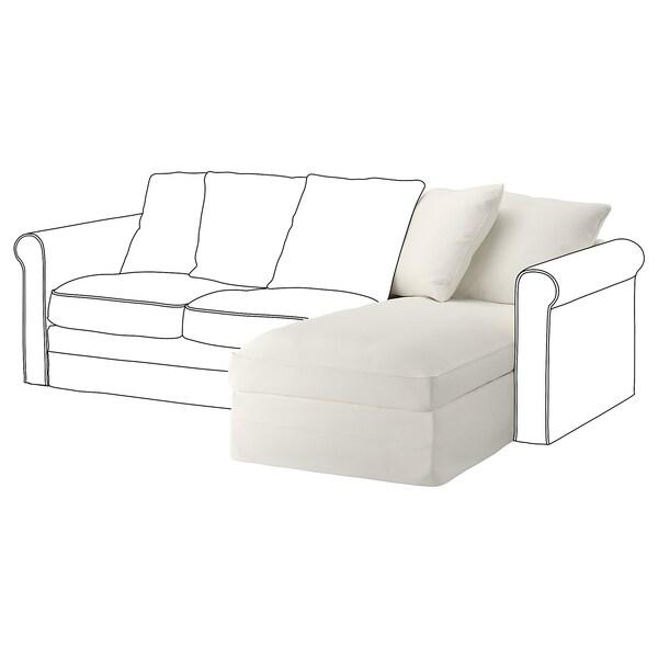 GRÖNLID قسم كرسي إسترخاء طويل., Inseros أبيض