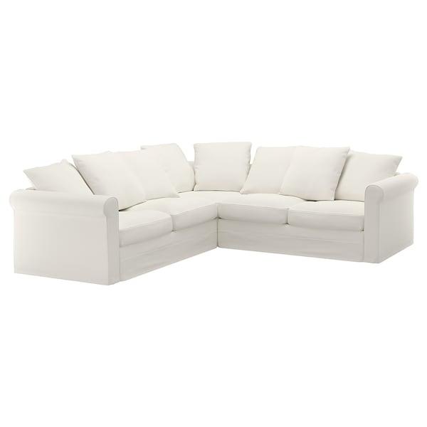 GRÖNLID Corner sofa, 4-seat, Inseros white