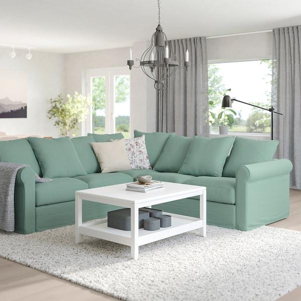 GRÖNLID Corner sofa, 4-seat, Ljungen light green