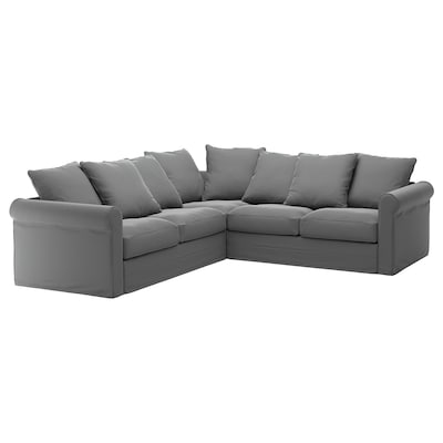 GRÖNLID Corner sofa, 4-seat, Ljungen medium grey