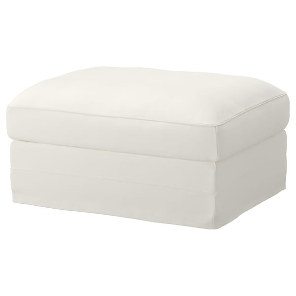 GRÖNLID cover for footstool with storage Inseros white
