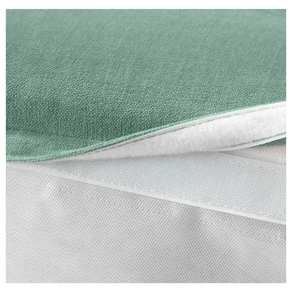 GRÖNLID cover for footstool with storage Ljungen light green
