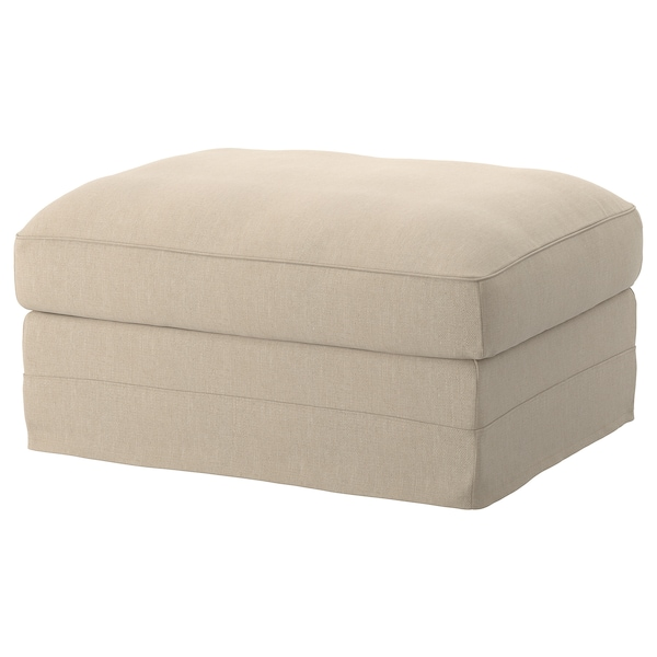 GRÖNLID cover for footstool with storage Sporda natural