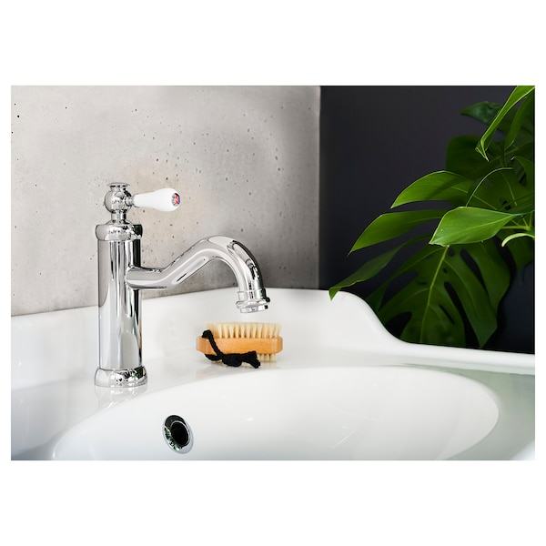 HAMNSKÄR Wash-basin mixer tap with strainer, chrome-plated