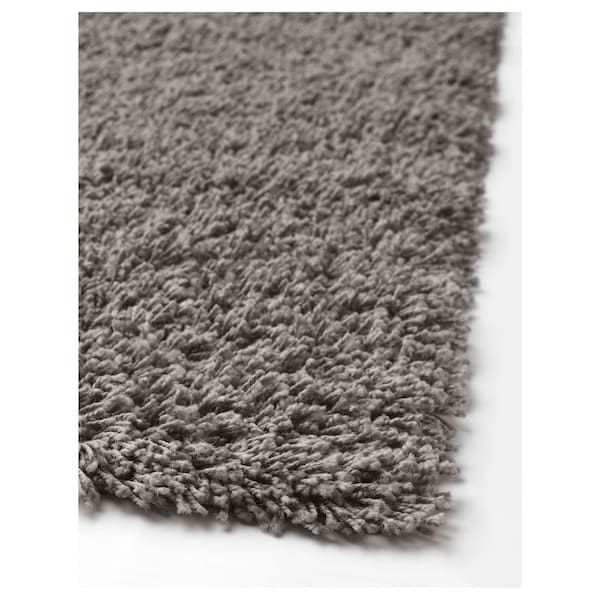 HAMPEN Rug, high pile, grey, 160x230 cm