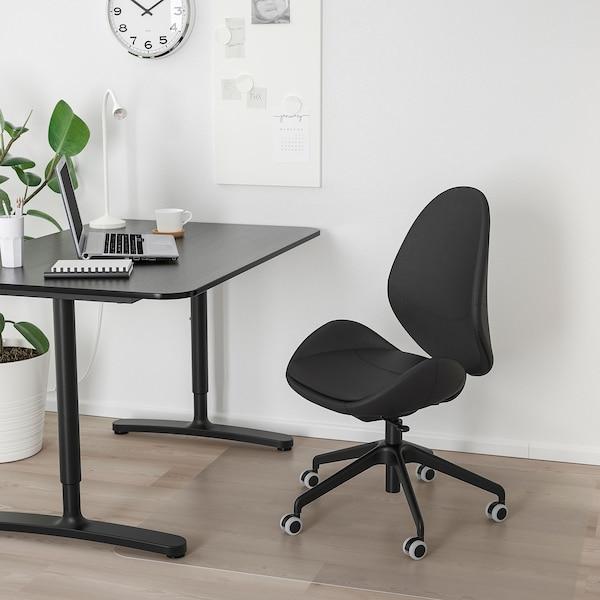 HATTEFJÄLL كرسي مكتب, Smidig أسود