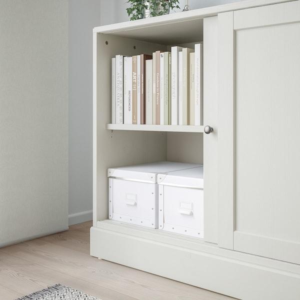 HAVSTA Cabinet with plinth, white, 121x47x89 cm