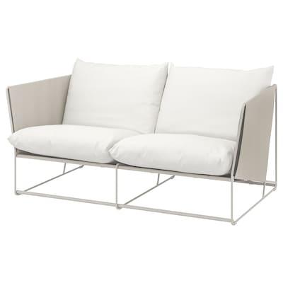 HAVSTEN أريكة بمقعدين، داخلية/خارجية, بيج, 179x94x90 سم