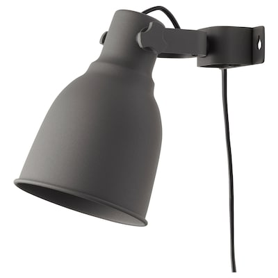 HEKTAR Wall/clamp spotlight, dark grey