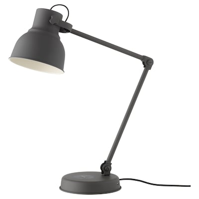 HEKTAR Work lamp with wireless charging, dark grey