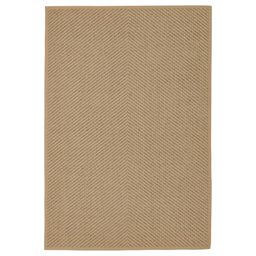 HELLESTED rug, flatwoven natural/brown 195 cm 133 cm 8 mm 2.59 m² 2570 g/m²