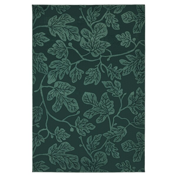 HILDIGARD Rug, low pile, green, 133x195 cm