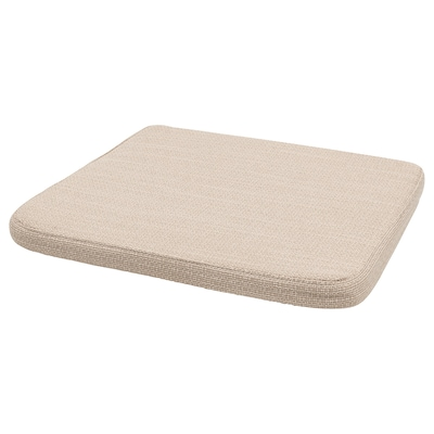 HILLARED Chair pad, beige, 36x36x3.0 cm